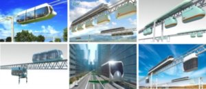 Skyway transport system of future – but so far only in the form of various presentation videos and simulations.