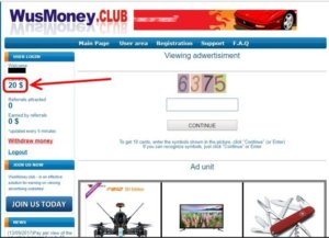 Ads also with a panel where you should put down the 4-digit codes – numbers