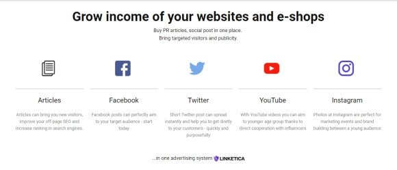 Linketica.com is a portal where bloggers, influencers as well as e-shop owners will have a field day.