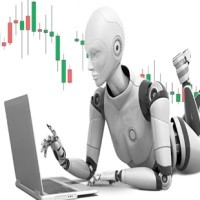 An illustration of an algorithmic robot that trades on Forex instead of you.