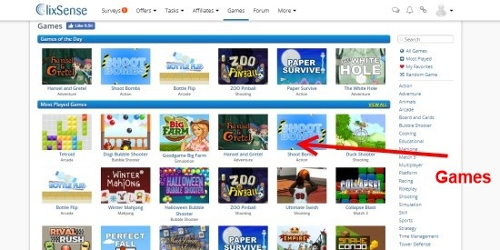 You can play online games on the webpage as well, unfortunately no longer for money.