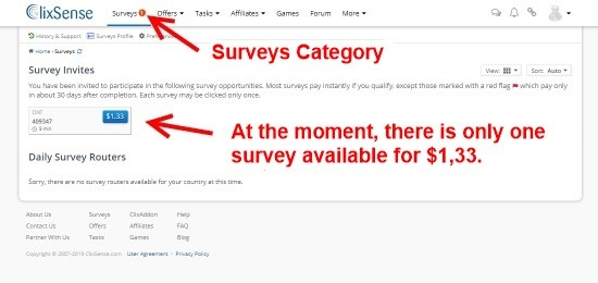 You can find invites for current surveys in the Surveys category.