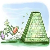 Illustration picture of a pyramid scheme.