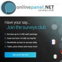 Landingpage of the onlinepanel.net company.