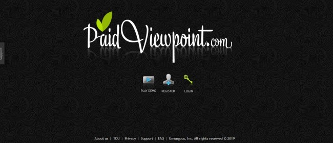 Paidviewpoint landing page