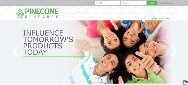 Pineconeresearch landing page