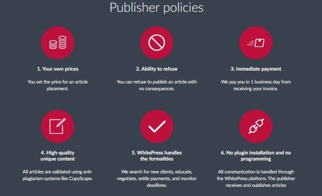 What are the requirements for publishers?