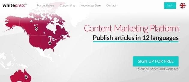 Whitepress.net homepage.
